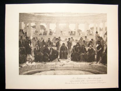 1902 Antique Print An Audience in Athens by Richmond | Albion Prints